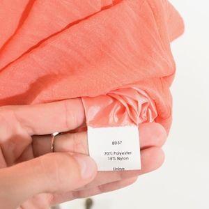 Yoana Baraschi Dresses - Yoana Baraschi Coral Pink V-Neck Sheath Dress